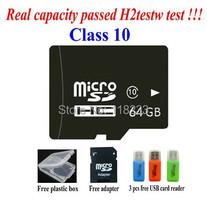 free shipping Real capacity memory card 2G 4G 8GB class 4 16GB 32GB 64GB class 10 micro sd card Pass h2testw Free adapter reader