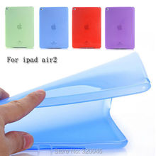 TPU soft back cover for ipad air2 case transparent protective case for ipad air 2 flexible shell