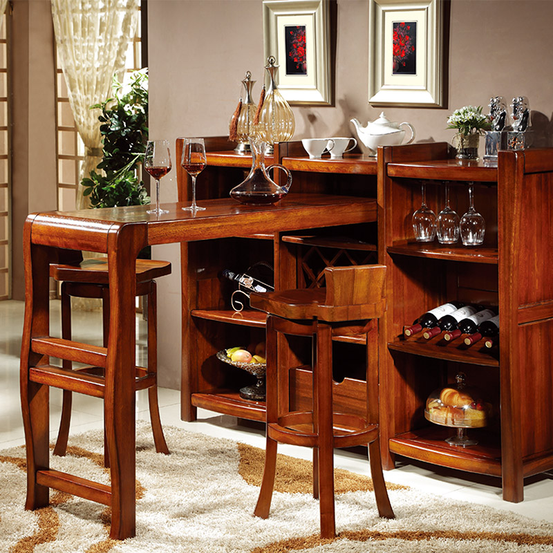 Walnut Wine Bar Tables Wood Dining Room Hall Cabinet Sideboard And Chairs Off The Living