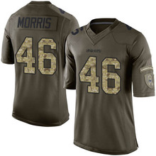 Men's #46 Alfred Morris Elite Green Salute to Service Football Jersey 100% stitched(China (Mainland))