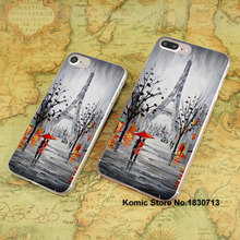 Buy Eiffel Tower Paris France Oil Painting design hard transparent clear Cover Case Apple iPhone 7 6 6s Plus SE 4s 5s 5c for $663.91 in AliExpress store