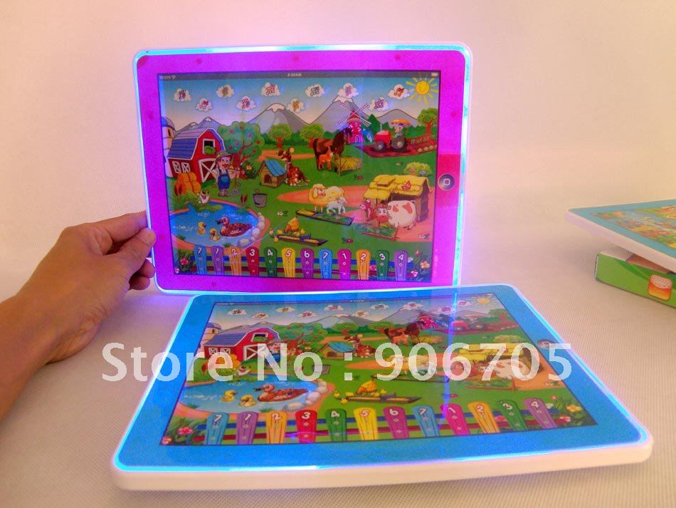 Free shipping-Wholesale Y-pad table farm English learning Machine,Y-PAD farm educational toy for children,24PCS/lot(China (Mainland))