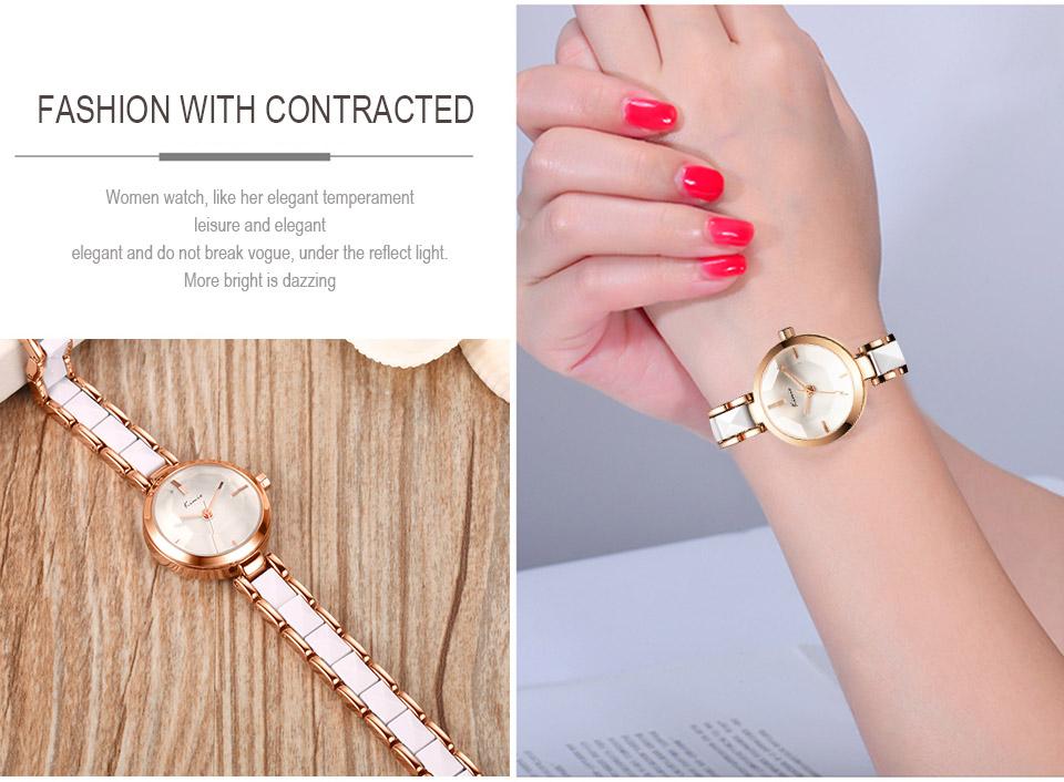 KIMIO Imitation Ceramic Gold Watches Women Fashion Watch 2016 Brand Luxury Quartz-watch Wristwatches Women's Watches For Women