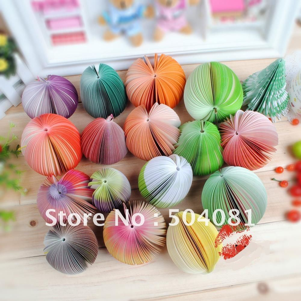 more than 15 styles ,vegetable /fruit shape note pad/memo pad/note paper/sticky notes/notebook Novel Gift Fruit(China (Mainland))