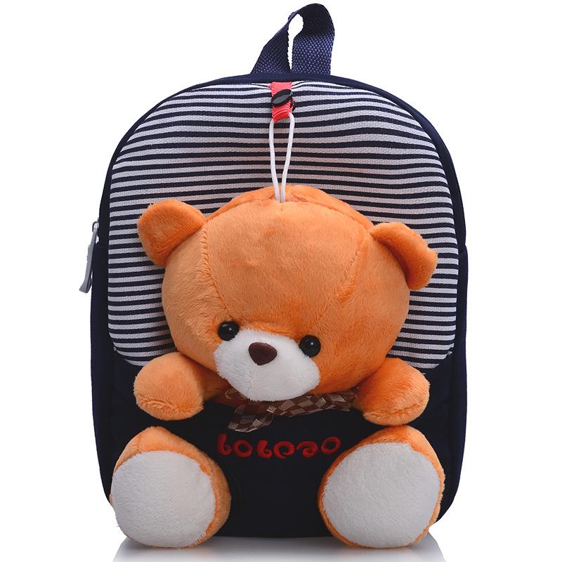Children school bags backpack kindergarten girls boys kid backpack cute cartoon toys bear ribbons bow hot sale()