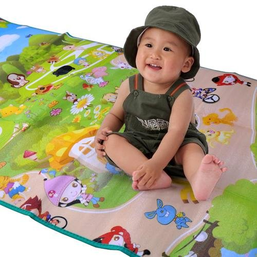 wholesale baby play mat Size 1.8*1.0 Meter Fruit/Zillionaire Game pattern Family picnic carpet child toy christmas gift