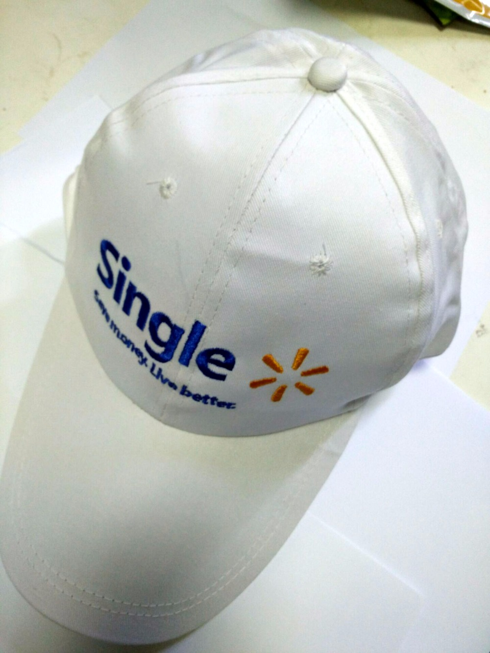Being single save money live better white cotton baseball cap adjustable visor Caps(China (Mainland))