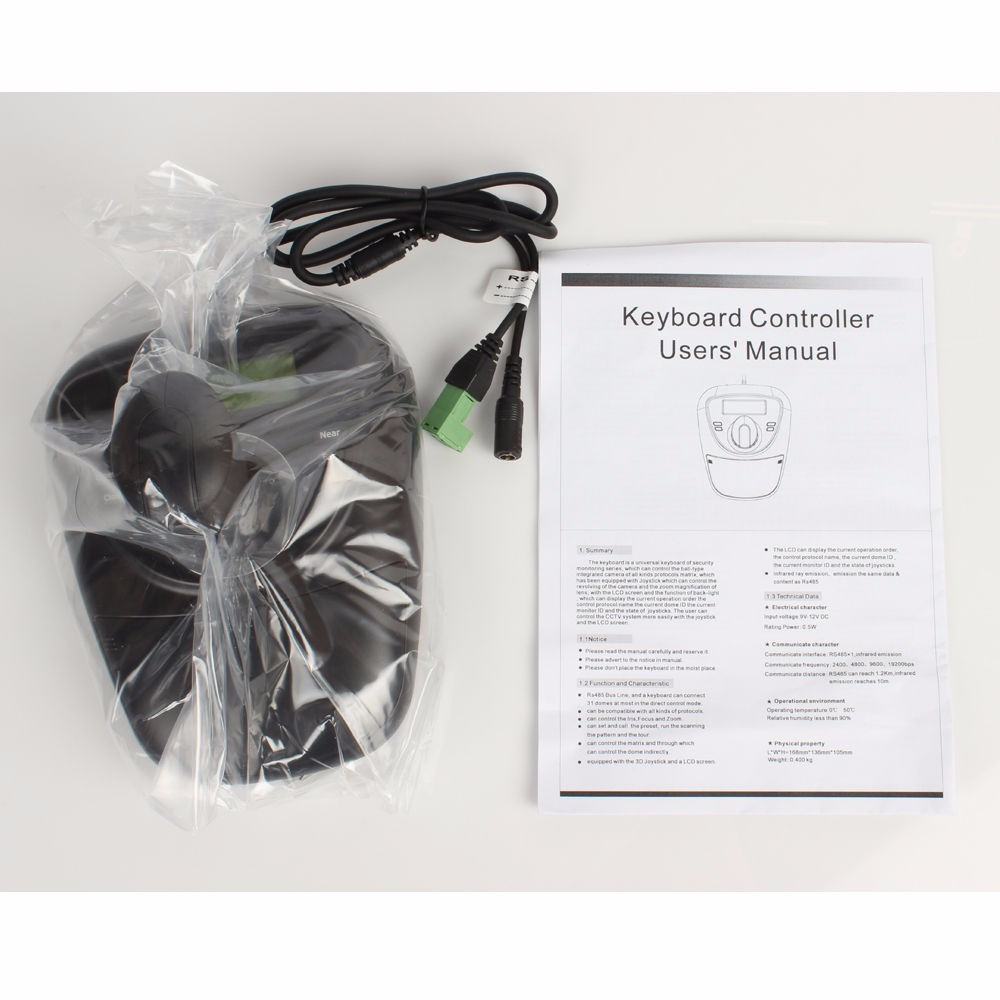 3D PTZ KEYBOARD CONTROLLER JOYSTICK WITH RS 485 CONNECTIONS & WITH LCD SCREEN(China (Mainland))