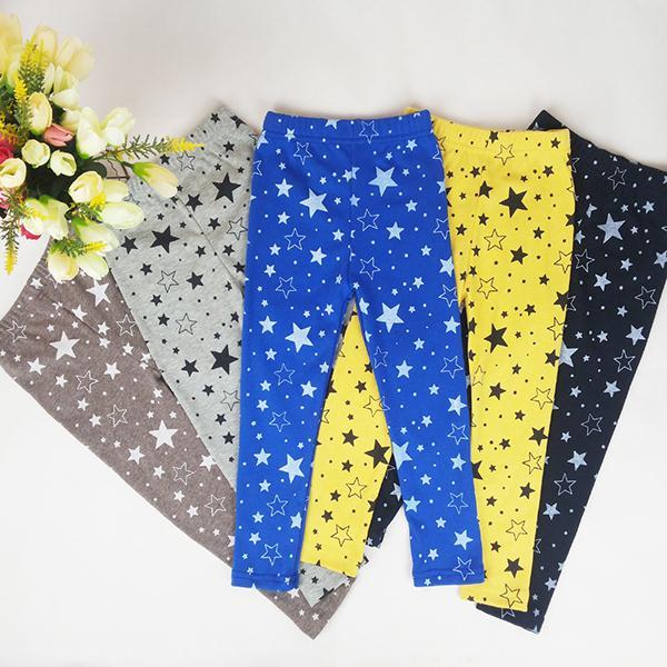 Fashion Children Kids Girls Star Printed Pants Skinny Pants Warm Stretchy Leggings Trousers