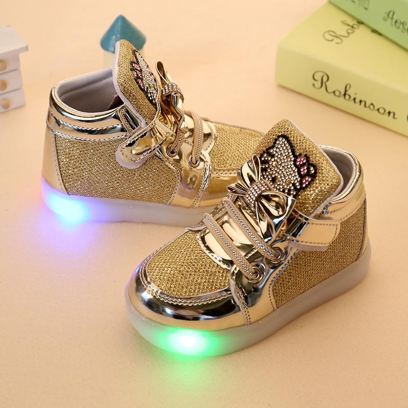 Hot SALE Kids shoes baby Fashion LED light shoes kids