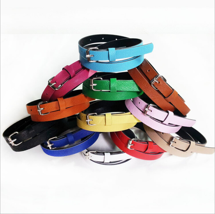 Multi-Color Women Belts Metal Buckle Wild Casual Thin Belts Female Cinto Femme Female Strap Belly Chain Nice Gift for Women(China (Mainland))