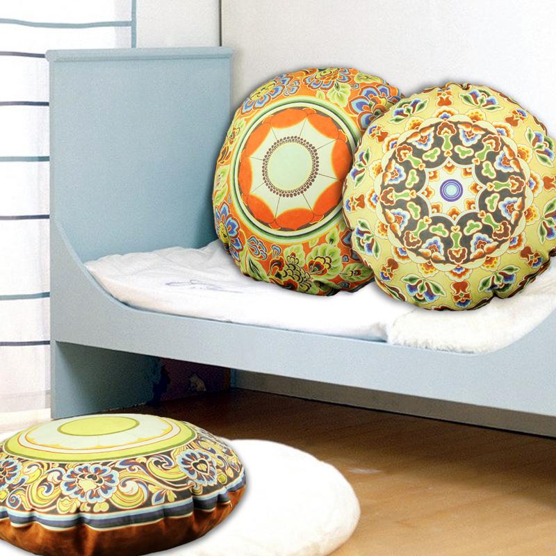 chinois rond oreiller coussins de canap en tissu seule. Black Bedroom Furniture Sets. Home Design Ideas