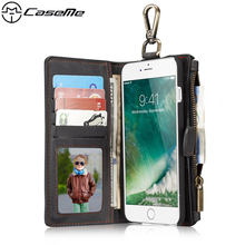 Buy iPhone 7 Plus Case 5.5 7Plus Leather Cover Metal Buckle Zipper Wallet Card Magnetic Phone Back Cover Apple iPhone7 Plus for $14.56 in AliExpress store