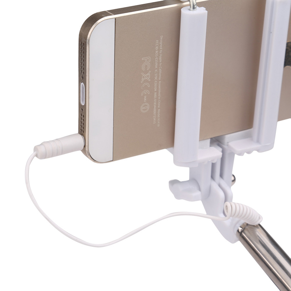 image for Super Mini Wired Selfie Stick Monopod For Iphone 4 4s 5 5c 5s For Ipho