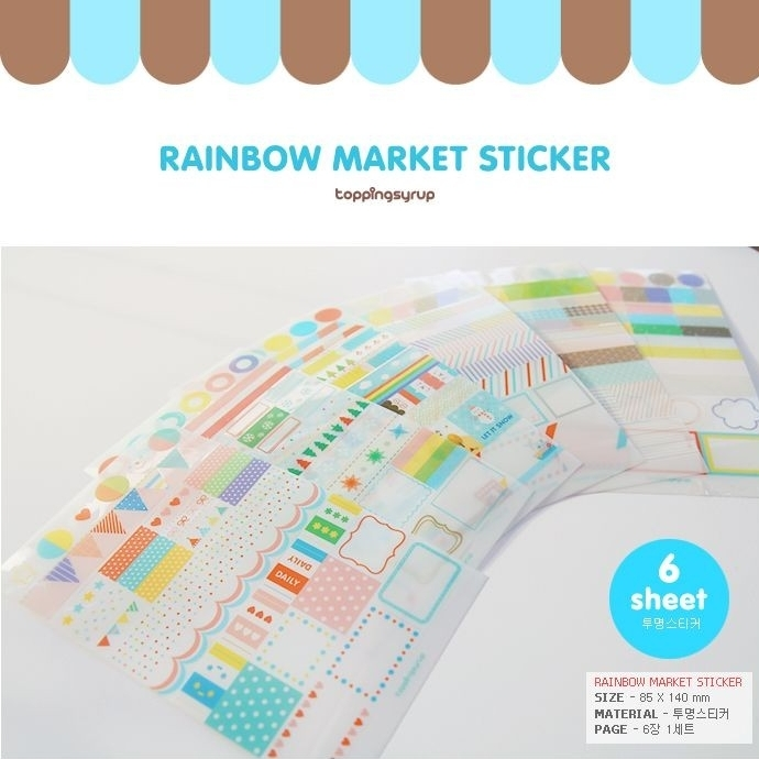 Wholesale 20pack Lot New Seven Cute Transparent Stickers The Blue Label Catalog H0288 China