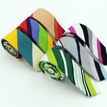 Мода 5 см тощий хлопок рулевой марка конфеты цвет полосатый галстуки для мужчин жених узким горлышком связи ну вечеринку аксессуары галстук