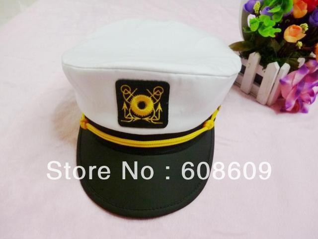 Free shipping Plice navy hat for sexy use,white Sexy Police cap, sailor hat accessory for sexy lingerie PC0228