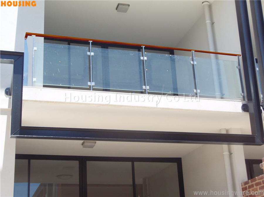 Stainless steel balusters glass balcony railing for you on for Balcony glass railing designs pictures