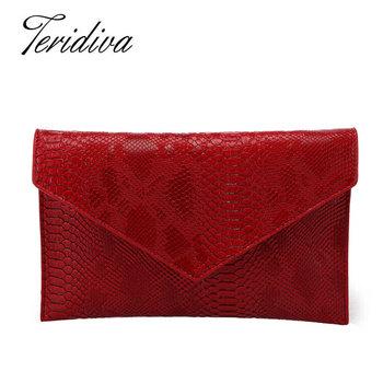 Famous Designer Bags 2016 Evening Handbags for Women Shoulder Chain Bag Ladies Envelope Clutch Purses Gold Woman Serpentine Bags