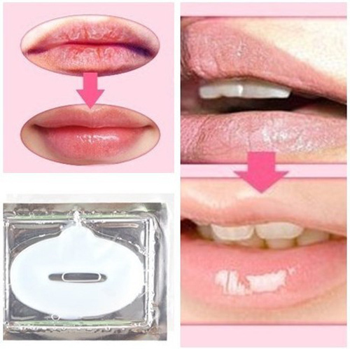 10pcs Collagen crystal lip mask, hydrating whitening play down lip color lip wrinkles(China (Mainland))