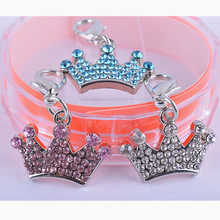 Personalized Rhinestone Crown Dog Accessories Design Tag Collar Charm Pet Products For Animals