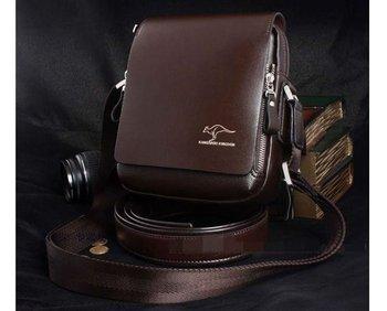 Новая коллекция 2015 мода марка кожа мужчины сумка на плечо, высокое качество новое, аутентичные кенгуру сумки, мужская деловая сумка