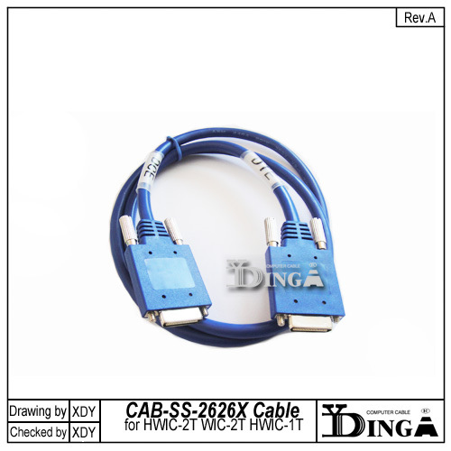 Intelligent serial cable smart cable smart serial DTE to DCE cable 3FT CAB-SS-2626X cable for WIC-2T HWIC-2T HWIC-1T(China (Mainland))