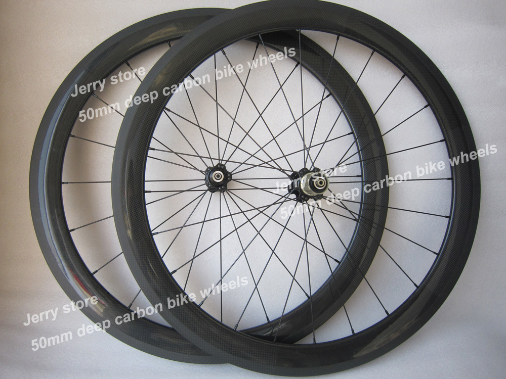wholesale,free shipping carbon Wheelset T-50 Tubular 3K weave wheels 50mm<br><br>Aliexpress