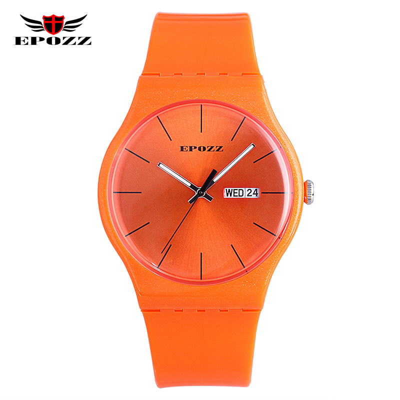 2016 Hot Brand Epozz fashion casual student young lady design digital analog couple gift women watches orange flash watchband<br><br>Aliexpress