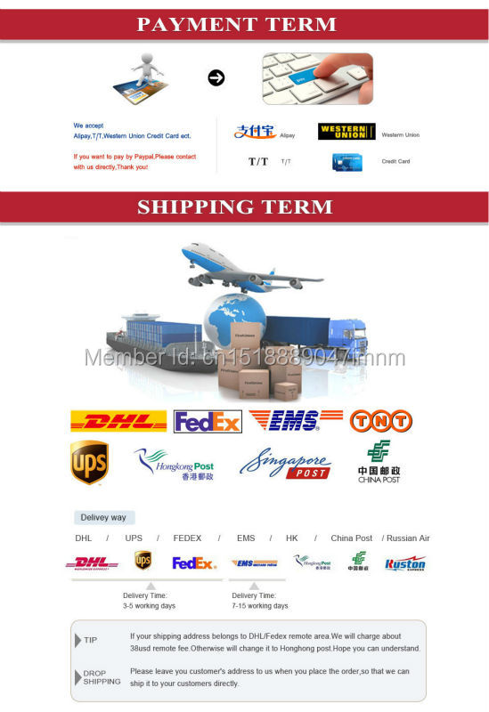 Payment and shipping term