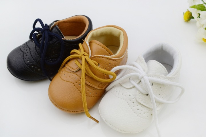 Baby Boys Girls First Walkers Toddler/Infant/Newborn Shoes Hot-selling Lace-Up Brand PU Leather New 2015(China (Mainland))