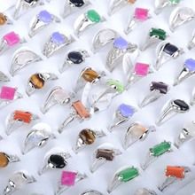 10pcs Assorted Style Multicolor Stone Finger Ring