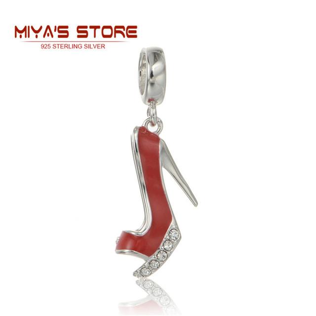 Красный высокие каблуки очарование обуви тибетский серебряный браслет высокие каблуки ...