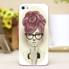Sexy lady middle figure Design transparent case cover cell mobile phone cases for Apple iphone 4 4s 5 5c 5s hard shell