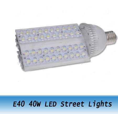 High Power E40 40W Warm White LED Street Lights Road Lamps Outdoor Path Lighting 7PCS(China (Mainland))