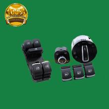 Buy OEM QUALITY EU Brushed Auto Headlight Switch+Side Mirror Master Window Switch VW Tiguan Passat B6 CC Golf 5 6 Jetta MK5 MK6 for $34.50 in AliExpress store