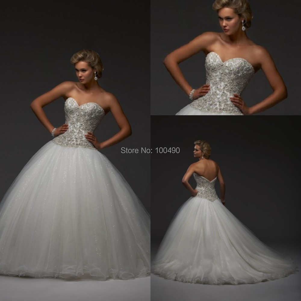 2014 new arrival fashionable romantic sexy white vintage for Plus size bling wedding dresses