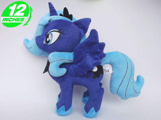 25*35cm 280g Ty Beanie Boos Plush yokai watch Doll poni abc pet Kids Toys Stuffed Animals Horse - - Princess Luna(China (Mainland))