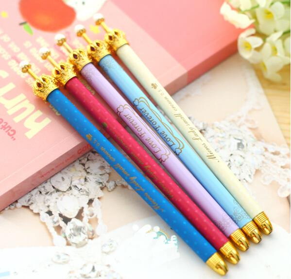 0.5mm New Fashion & Cute Crown Style Ballpoint Pens,Office and School Pen for Kids Children Students and Office Ball Pen,as Gift(China (Mainland))