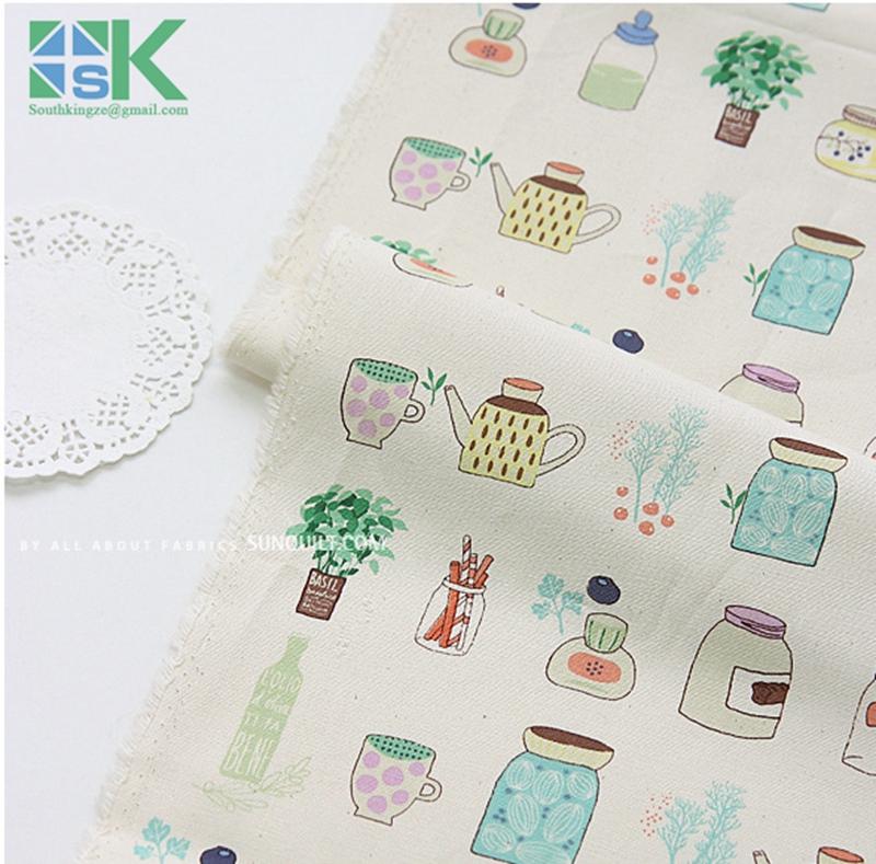 Fashion DIY Cotton Fabric, Fabric, Fluid cloth curtain fabric home sofa table cloth fabric flower pot plant meters(China (Mainland))