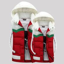 Скидки на Мужчины и женщины пара мягкий зима новый Британской моды с капюшоном длинный отрезок Надьямарош воротник вниз пальто и парки плюс размер