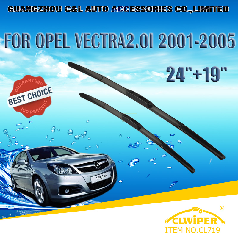 """For OPEL VECTRA 2.0I(2001-2005), Exclusive Car Windshield Windscreen Wiper Blade 24""""+19"""" Fast shipping Cars styling accessories(China (Mainland))"""
