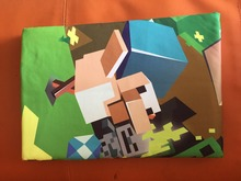 In stock sale !4 styles Eat Sleep Cartoon MineCraft bedding Duvet Cover+Pillow Cover Bedding  Mining Game Duvet Cover Set myword(China (Mainland))