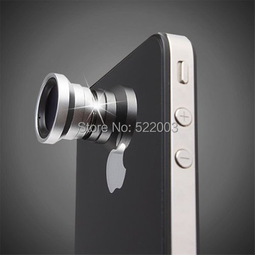2015 New Mange 3 in 1 Fisheye Lens +Wide Angle +Micro Lens Photo Kit Set For iPhone 5(China (Mainland))