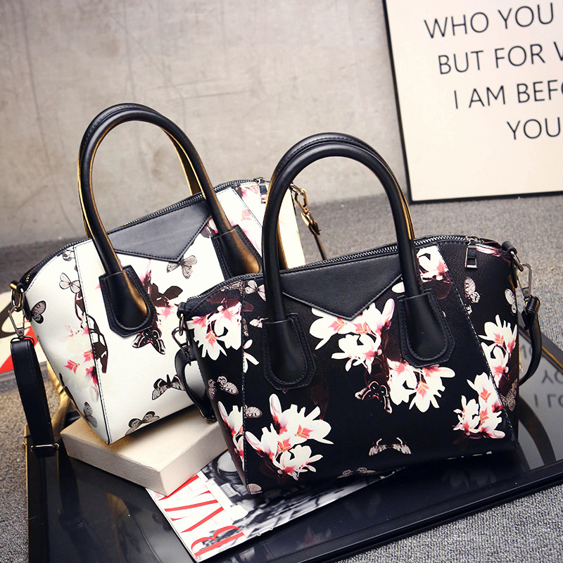 New selling brand PU leather Women bags Fashion Crossbody Shoulder Handle Bags for Women With butterfly printing Ladies Bolsos(China (Mainland))