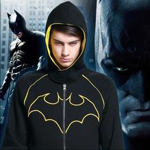 Hot New Batman Autumn Fleece Jacket  SUPER HEROS Hoodies  Sweatshirts Free Shipping(China (Mainland))