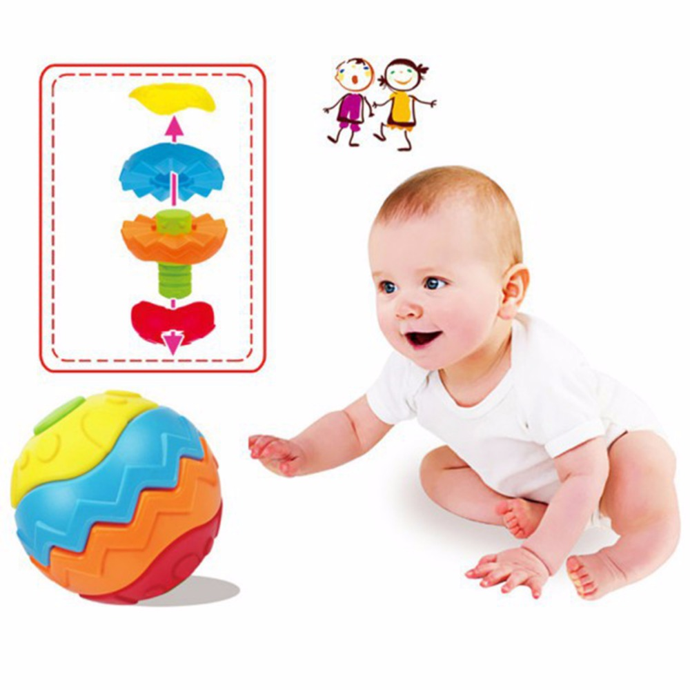 Fitness Ball Baby Educational Building Toys Magic Cubes Brinquedos Educativos Puzzles For Children Educational Bloks(China (Mainland))