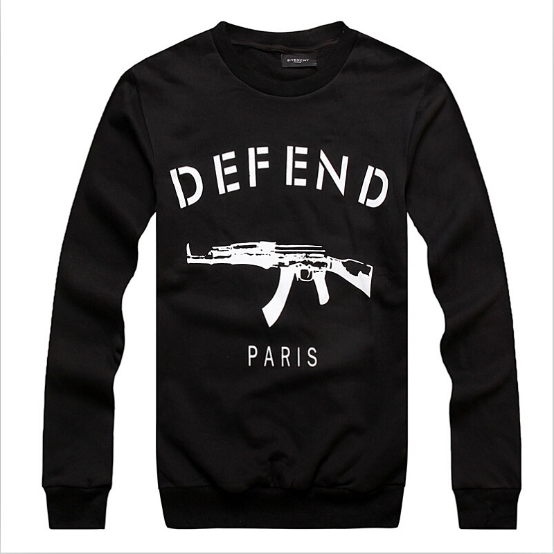 Men's Defend Paris Sweatshirts AK47 Print Fashion Casual Male's Slim Long Sleeve Clothing Hot Sale High Quality Free Shipping(China (Mainland))