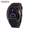 Multifunctional character table LED car lovers watch gift belt watch electronic current digital watch