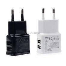 1pcs 2A Dual 2 Ports USB EU Wall Charger Adapter for Samsung for iPhone for HTC for MOTO Perfect  promotion(China (Mainland))